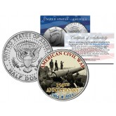 "AMERICAN CIVIL WAR - 150th Anniversary "" Fort Putnam "" JFK Kennedy Half Dollar U.S. Coin"