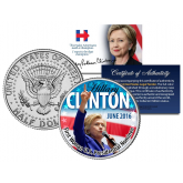 HILLARY RODHAM CLINTON * Historic First Woman U.S. Presidential Nominee - June 2016 * Genuine Legal Tender 2016 U.S. JFK Half Dollar Coin