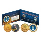 AIR FORCE Armed Forces Coin Collection Genuine Legal Tender JFK Kennedy Half Dollars 2-Coin Set