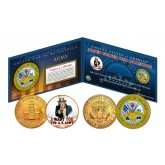 ARMY Armed Forces Coin Collection Genuine Legal Tender JFK Kennedy Half Dollars 2-Coin Set