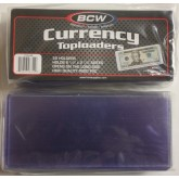 25 BCW CURRENCY TOPLOADERS Hard Rigid Holders for Banknotes Money US Dollar Bills