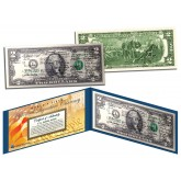 DECLARATION of INDEPENDENCE Historical SIGNATURES - Legal Tender U.S. $2 Bill