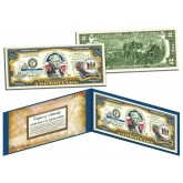 DELAWARE $2 Statehood DE State Two-Dollar U.S. Bill - Genuine Legal Tender
