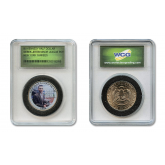 DEREK JETER 1994 Minor League Player of the Year Colorized JFK Kennedy Half Dollar U.S. Coin in Slabbed Serial Numbered Holder