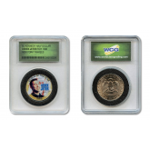 DEREK JETER 1996 Rookie of the Year Colorized JFK Kennedy Half Dollar U.S. Coin in Slabbed Serial Numbered Holder