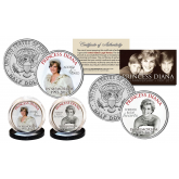 PRINCESS DIANA 1997-2017 20th ANNIVERSARY Official U.S JFK Kennedy Half Dollar 2-Coin Set - Wedding Dress