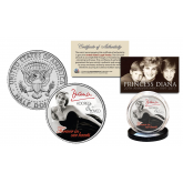PRINCESS DIANA 1997-2017 20th ANNIVERSARY Official JFK Kennedy Half Dollar U.S. Coin - Black Dress