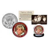 PRINCESS DIANA 1997-2017 20th ANNIVERSARY Official JFK Kennedy Half Dollar U.S. Coin - Face