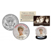 PRINCESS DIANA 1997-2017 20th ANNIVERSARY Official JFK Kennedy Half Dollar U.S. Coin - Crown