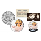 PRINCESS DIANA 1997-2017 20th ANNIVERSARY Official JFK Kennedy Half Dollar U.S. Coin - Portrait