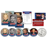 DONALD TRUMP - 2016 Presidential Campaign 10 Piece * Life & Times *  Ultimate U.S. Coin & Trading Card Collection