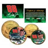 DALE EARNHARDT JR North Carolina Quarter & JFK Half Dollar 2-Coin Set 24K Gold Plated - Officially Licensed