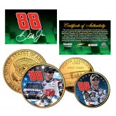 DALE EARNHARDT JR - National Guard - North Carolina Quarter & JFK Half Dollar US 2-Coin Set 24K Gold Plated - Officially Licensed
