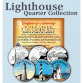 Historic American - LIGHTHOUSES - Colorized US Statehood Quarters 3-Coin Set #8 - Fort Niagara (NY) St. Augustine (FL) Point Robinson (WA)
