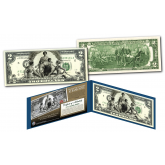EDUCATIONAL SERIES 1896 Designed NEW $2 Bill - Genuine Legal Tender Modern U.S. Two-Dollar Banknote