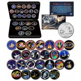 SPACE SHUTTLE ENDEAVOR MISSIONS NASA Florida Statehood Quarters 25-Coin Set with BOX