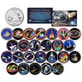 SPACE SHUTTLE ENDEAVOR MISSIONS - Colorized Florida Quarters US 25-Coin Set - NASA