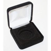 Black Felt COIN DISPLAY GIFT METAL BOX holds 1-IKE or American Silver Eagle ASE