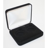 Black Felt COIN DISPLAY GIFT METAL PLUSH BOX holds 2-IKE or Silver Eagle ASE