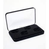 Black Felt COIN DISPLAY GIFT METAL PLUSH BOX holds 4-IKE or Silver Eagle ASE