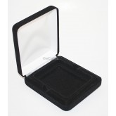 Black Felt COIN DISPLAY GIFT METAL PLUSH BOX for 1-Slab Coin Certified NGC PCGS