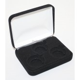 Lot of 5 Black Felt COIN DISPLAY GIFT METAL BOX for 3-Quarters or Presidential $1 or Sacagawea Dollars