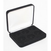 Lot of 20 Black Felt COIN GIFT METAL BOX holds 6-Quarters or Presidential $1 or Sacagawea Dollars