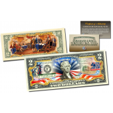 July 4th Independence Day *2-Sided* Official Genuine Legal Tender $2 U.S. Bill