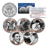 CLARK GABLE - MOVIES - Colorized JFK Kennedy Half Dollar U.S. 5-Coin Set