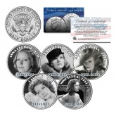 GRETA GARBO - MOVIES - Colorized JFK Kennedy Half Dollar U.S. 5-Coin Set