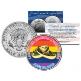 GAY PRIDE Marriage Equality Colorized 2015 JFK Half Dollar U.S. Coin Wedding Rings 6/26/2015