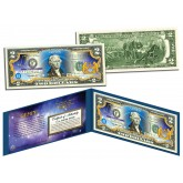 GEMINI - Horoscope Zodiac - Genuine Legal Tender Colorized U.S. $2 Bill