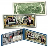 GEORGE H.W. BUSH 1924-2018 Commemorative Genuine Legal Tender U.S. $2 Bill - 41st President