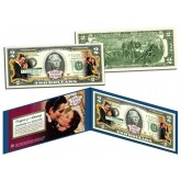 GONE WITH THE WIND Movie Colorized $2 Bill U.S. Legal Tender - Officially Licensed
