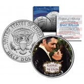 "Gone with the Wind "" Embrace "" JFK Kennedy Half Dollar US Colorized Coin - Officially Licensed"