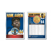HANK AARON Baseball Legends JFK Kennedy Half Dollar 24K Gold Plated US Coin Displayed with 4x6 Display Card