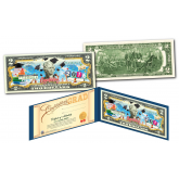 HAPPY GRADUATION Keepsake Gift Genuine Legal Tender U.S. $2 Bill with Diploma Style Certificate of Authenticity
