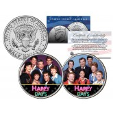 HAPPY DAYS - TV SHOW - Colorized JFK Half Dollar U.S. 2-Coin Set