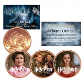 Harry Potter DEATHLY HALLOWS Colorized British Halfpenny 3-Coin Set (Set 3 of 6) - Officially Licensed