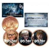 Harry Potter DEATHLY HALLOWS Colorized British Halfpenny 3-Coin Set (Set 4 of 6) - Officially Licensed