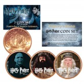 Harry Potter DEATHLY HALLOWS Colorized British Halfpenny 3-Coin Set (Set 6 of 6) - Officially Licensed