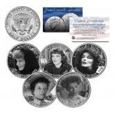 KATHARINE HEPBURN - MOVIES - Colorized JFK Kennedy Half Dollar U.S. 5-Coin Set