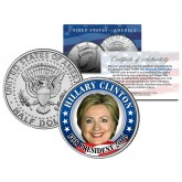 HILLARY CLINTON FOR PRESIDENT 2016 Colorized JFK Kennedy Half Dollar U.S. Coin CAMPAIGN
