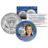 HILLARY CLINTON FOR PRESIDENT US 2016 Campaign JFK Kennedy Half Dollar Coin WHITE HOUSE