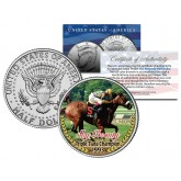 SKY BEAUTY - Triple Tiara Champion 1993 - Thoroughbred Racehorse Colorized JFK Half Dollar US Coin