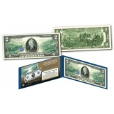 1914 Series $10 Andrew Jackson Federal Reserve Note designed on a Modern $2 Bill