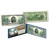 1914 Series $5 Abraham Lincoln Federal Reserve Note designed on a Modern $2 Bill