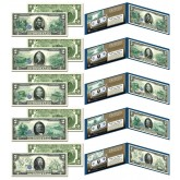 1914 Federal Reserve Notes Hybrid Commemorative - Complete Set of 5 Modern $2 Bills ($5, $10, $20, $50, $100)