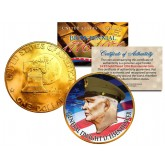 GENERAL DWIGHT D EISENHOWER Colorized 1976 IKE Dollar U.S. Coin 24K Gold Plated ARMY