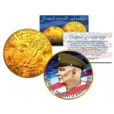 GENERAL DWIGHT D EISENHOWER Colorized IKE Dollar U.S. Coin 24K Gold Plated ARMY